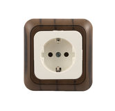 Electrical socket isolated Royalty Free Stock Images