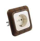 Electrical socket isolated Stock Photography