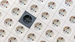 Electrical socket outlets texture stock photos