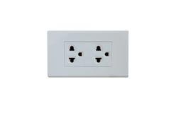 Electrical socket plug  Isolated on White Royalty Free Stock Photo