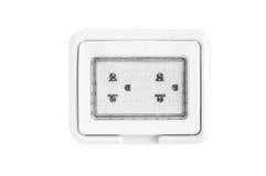 Electrical socket plug  Isolated on White Stock Image