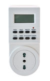 Electrical socket timer Stock Photo