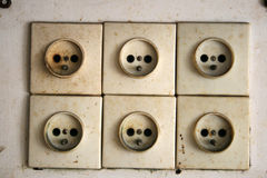 Electrical sockets - contact Stock Image