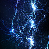 Electrical sparks. On a dark blue background Royalty Free Stock Photos