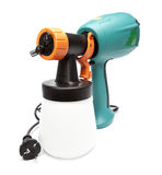 Electrical spray gun for coloration, for color pulverization Royalty Free Stock Images