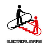 Electrical stairs Royalty Free Stock Image
