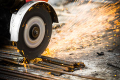 Electrical steel grinding Stock Photo