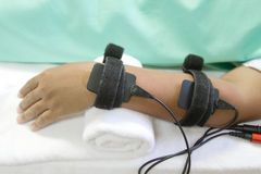 Electrical stimulation forearm Royalty Free Stock Images