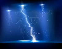 Electrical storm. Vector illustration. Stock Photography