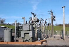 Electrical Sub Power Station Royalty Free Stock Image
