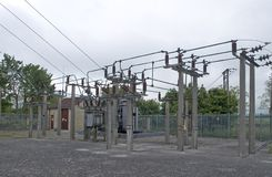 Electrical Substation. 33000 volt electrical substation in England stock images