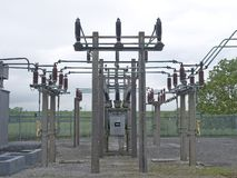Electrical Substation. 33000 volt electrical substation royalty free stock photo