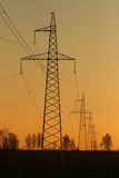 Electrical substation. Overview of electrical and power equipment Royalty Free Stock Image
