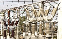 Electrical substation. Image of Electrical substation in city Royalty Free Stock Images
