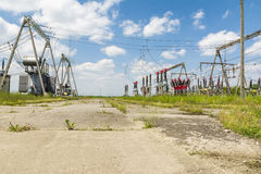 Electrical substation components Royalty Free Stock Photos