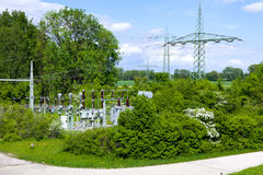 Electrical substation, Germany Royalty Free Stock Photos