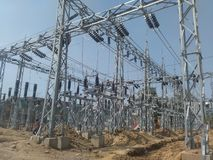 ELECTRICAL SUBSTATION GRID royalty free stock photography