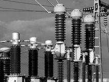 Electrical Substation Insulators Stock Image