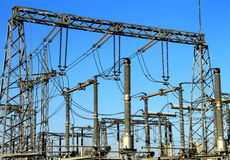 Electrical substation , power converter. Stock Images
