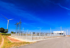 Electrical substation Royalty Free Stock Photography