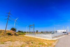 Electrical substation Stock Image