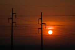 Electrical sunset royalty free stock images