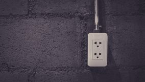 Industrial Electric Plug On Device stock photo
