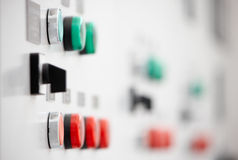 Electrical switch panel Royalty Free Stock Photo