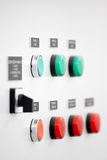 Electrical switch panel Royalty Free Stock Images