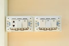 Electrical switch and plug Royalty Free Stock Photography