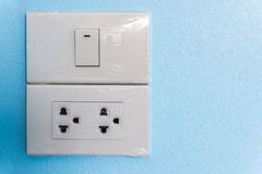 Electrical switch and plug Stock Image