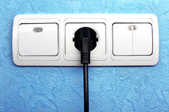 Electrical switch, plug and outlet Royalty Free Stock Photography
