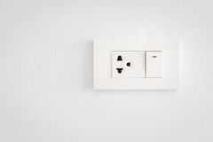 Electrical switch and plug Royalty Free Stock Photos