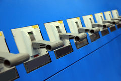 Electrical switches Stock Images