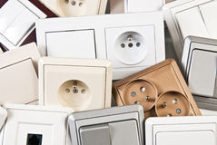 Electrical switches and outlet Royalty Free Stock Photography