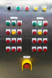 Electrical switchgear panel control, on plant  and process contr Royalty Free Stock Photography