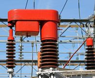 Electrical system of change report of a current transformer 4 Stock Image