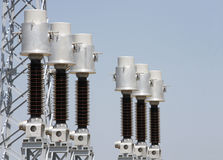 Electrical system. High Voltage Power Station. High Voltage Royalty Free Stock Photography