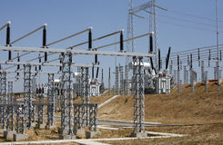 Electrical system. High Voltage Power Station. High Voltage Stock Photos