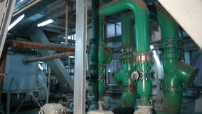 Electrical The System Pumps. With Pipelines in Manufacturing of Vegetable Oils stock video