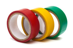 Electrical tape. Three electrical tape on white background Stock Image