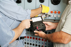 Free Electrical Team Testing Voltage Royalty Free Stock Photo - 3746495