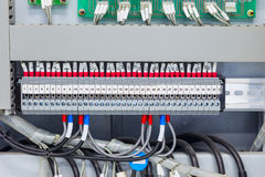 Electrical terminal control connector Royalty Free Stock Photos