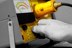 Electrical test equipment operating Stock Photography