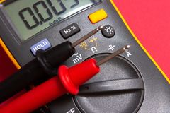 Electrical tester. Electric Measure device close-up royalty free stock images