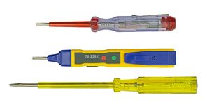 Electrical tester screwdrivers on white Stock Image