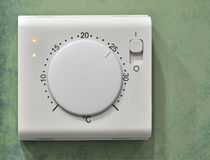 Electrical thermostat Royalty Free Stock Photo