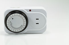Electrical timer  on white background Stock Image