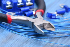 Electrical Tool and Wires Stock Images