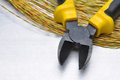 Electrical tools and cables Royalty Free Stock Photo